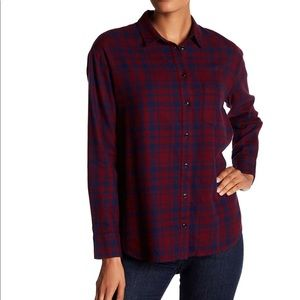 Madewell Oversized Boyfriend Plaid Shirt | Sz L